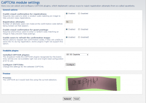 ACP page with 3D-CAPTCHA