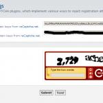 reCAPTCHA ACP page