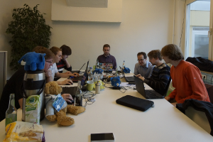 The group working on phpBB in Stuttgart